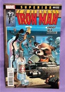 Tom Taylor SUPERIOR IRON MAN #1 Rocket Raccoon & Groot Variant (Marvel, 2017)