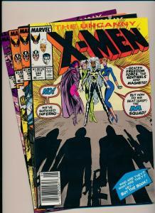 MARVEL Great SET!!! UNCANNY X-MEN #244-247 1st appearance of Jubilee VG/F(PJ75)