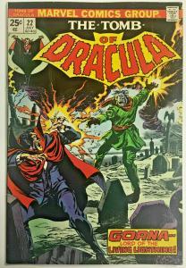 TOMB OF DRACULA#22 FN/VF 1974 MARVEL BRONZE AGE COMICS