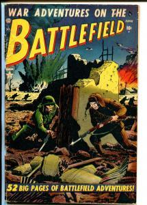 Battlefield #2 1952-Atlas-Consummate War Comic-war crimes issue-VG-