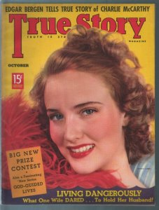 True Story 10/1938-Georgia Carroll-Edgar Bergen-exploitation-pulp thrills-VF