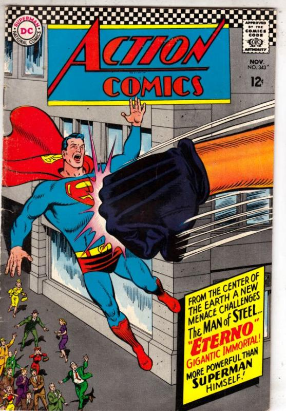 Action Comics #343 (Nov-66) FN/VF+ High-Grade Superman, Supergirl