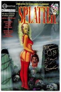 Splatter #6 Signed 2X Eric Dinehart & Jeremie Johnson (Northstar, 1993) VF-