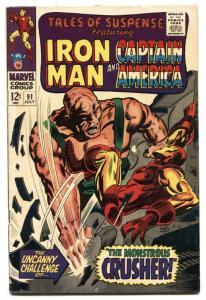 TALES OF SUSPENSE #91 comic book 1967-IRON MAN-Captain America-VG