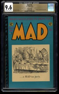 Mad #15 CGC NM+ 9.6 Off White to White Gaines File Copy Alice in Wonderland!