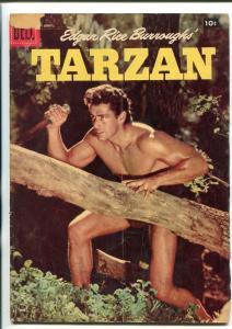 TARZAN #91-1957-DELL-GORDON SCOTT COVER- BURROUGHS- MARSH- MANNING-good