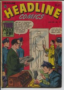 Headline #57 1953-Prize-pre-code crime-violent murder stories-police artist-VG