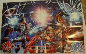 AVENGERS TIME RUNS OUT Promo Poster, 24 x 36, 2015, MARVEL, Unused 144