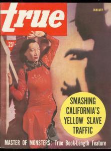 TRUE PULP-JAN 1939-YELLOW SLAVE TRAFFIC-MONSTERS-JUNKIE VF/NM