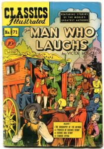Classics Illustrated #71 HRN 71 1950- Man Who Laughs 1st edition Alex Blum VG