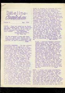 DATELINE: COMICDOM FANZINE #4 1963-RONN FOSS--ACKERMAN FN