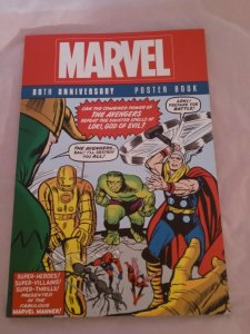MARVEL 80TH ANNIVERSARY POSTER BOOK TPB 8 DECADES OF THE FINEST COMIC COVERS NM