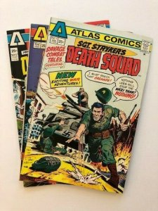 SET OF 3 ATLAS COMICS~ SGT. STRIKER'S DEATH SQUAD #1-#3 1975 VG/FINE (A173)