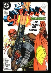 Superman (1987) #4 VF/NM 9.0 1st Bloodsport!