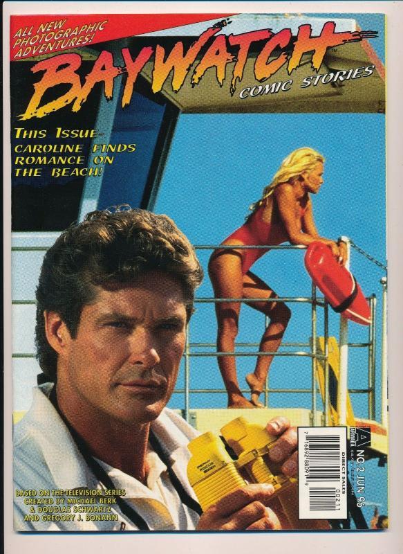 BAYWATCH Comic Stories #2 David Hasselhoff / Pamela Anderson ~ VF (D01)