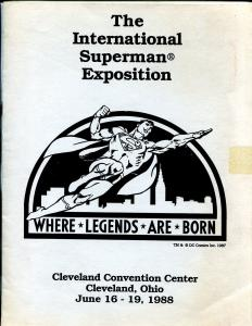 International Superman Exposition 6/19/1988-Cleveland Convention Ctr-rare-VG/FN