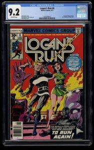 Logan's Run #6 CGC NM- 9.2 Off White 1st Solo Thanos!