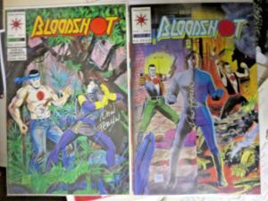 BLOODSHOT #5 & #7 - Autographed by DON PERLIN Valiant Comics