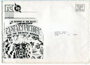 Captain Victory 1982-Pacific Comics-order form-mailing envelope-Jack Kirby-VG/FN