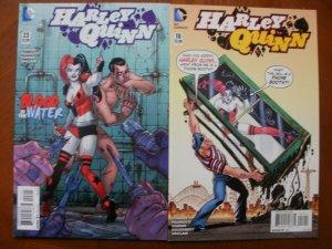 2 DC Comics HARLEY QUINN Comic Book: #18 & #23 Conner Palmiotti Hardin Sinclair