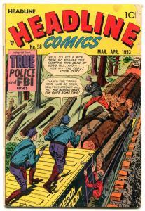 Headline #58 1953- Hex Murder Mystery- Golden Age Crime G
