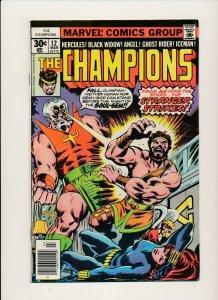 Marvel 1977 THE CHAMPIONS#12 Ghost Rider/Iceman/Black Widow F/VF (PF889)