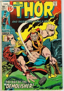 Thor #192 (1962) - 3.5 VG- *Conflagration*
