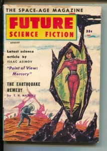 Future Science Fiction #44  8/1959-Isaac Asimov-Brian W. Aldiss-pulp thrills-...