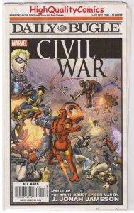 CIVIL WAR / DAILY BUGLE, NM-, Promo, Iron Man vs Captain America, 2006