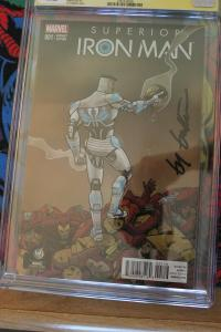 Superior Iron Man #1 Wizard World Reno Edition - Signature Series (Marvel, 2015)