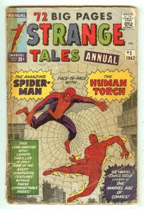 Strange Tales Annual 2   4th Spiderman   1st Spiderman crossover