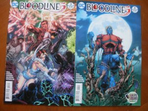 2 DC Comics BLOODLINES Limited Series Comic #3 #4 (Krul Marion Parsons)