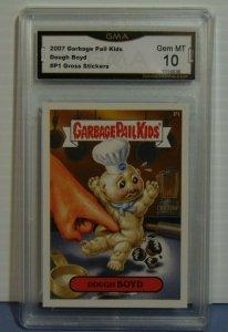 2007 Garbage Pail Kids Dough Boyd #P1 Gross Stickers Promo Card - Graded Mint 10