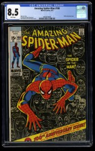 Amazing Spider-Man #100 CGC VF+ 8.5 White Pages