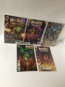 Monsters Unleashed 2 4 5 6 7 Nm Near Mint Marvel A26