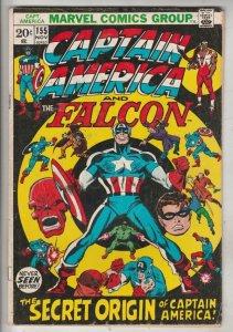 Captain America #155 (Nov-72) FN+ Mid-High-Grade Captain America