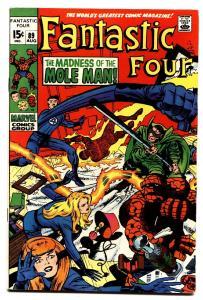 FANTASTIC FOUR #89 comic book 1969-JACK KIRBY-MARVEL-MOLE MAN VF-