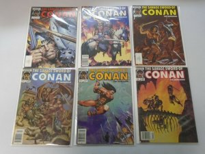 Savage Sword of Conan lot 18 different from #113-222 avg 7.0 FN VF (1985-94)