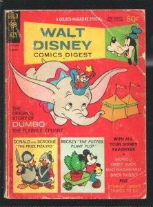 Walt Disney Comics Digest #8 1969-Carl Barks art-Dumbo-Brer Rabbit-Seven Dwar...