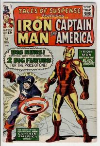 TALES of SUSPENSE #59, VF, Captain America, Iron Man, 1959, more TOS in store