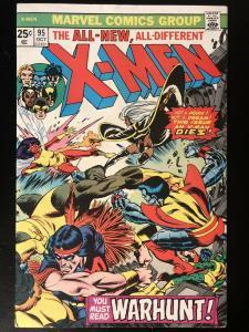 """The X-Men #95 (Oct 1975, Marvel) """"Death"""" Of Thunderbird **High Grade Key**"""