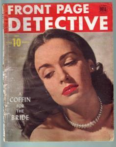 FRONT PAGE DETECTIVE DEC 1947-RACETRACK SCAMS-TRUE CRIME PULP MAG FR/G