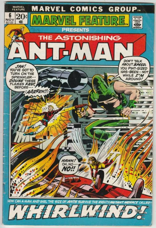 Marvel Feature presents Ant-Man, The Astonishing #6 (Nov-72) FN Mid-Grade Ant...