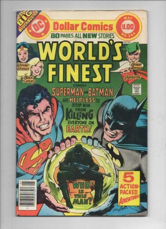 WORLD'S FINEST #244, VF, Batman, Superman, Neal Adams, 1941 1977, more in store