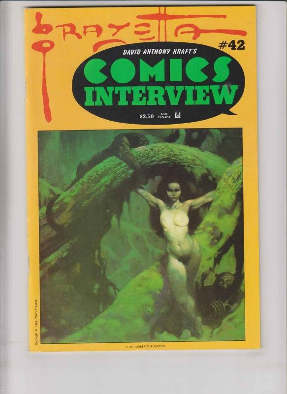 Comics Interview #42 VF big frank frazetta issue - magazine 1987 fictioneer