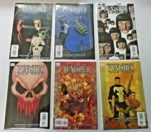 Punisher War Zone #1 to #6 all 6 different books average 8.0 VF (2008)