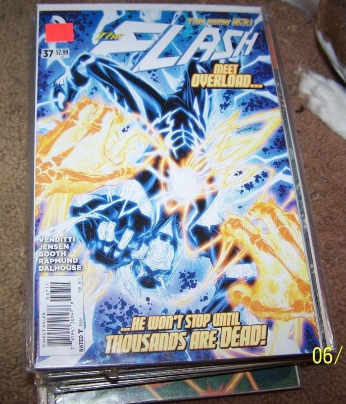 FLASH # 37 (February 2015, DC)  1st overlord new 52 HOT barry allen