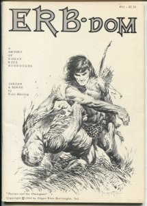 ERB-dom #85 1975-early Burroughs & Tarzan fanzine-buy/sell ads-Frazetta-VF