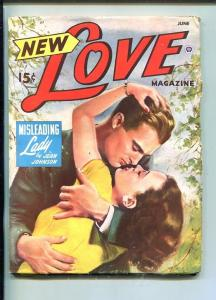 NEW LOVE-JUNE 1948-ROMANTIC PULP FICTION- PIN-UP GIRL COVER-SPICY-fn