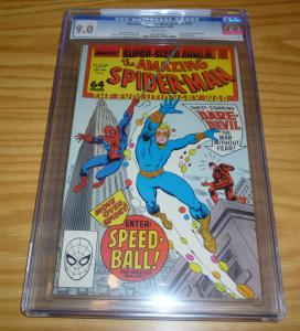 Amazing Spider-Man Annual #22 CGC 9.0 marvel new warriors key - 1ST SPEEDBALL
